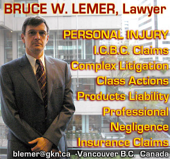 Bruce Lemer, Civil Litigation Lawyer, with focus on Personal Injjury, professional negligence, product liability, class actions