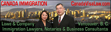 Canada Immigration Law firm Jeffrey Lowe & Notary V. Lee in front of False Creek view