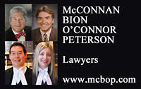 McConnan Bion O'Conner Peterson Law Firm graphic logo of Victoria downtown law firm