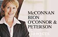 McConnan Bion O'Conner Peterson Law Firm graphic logo of Victoria downtown business lawyers