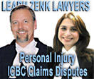 Gordon Zenk with Associate Shelina Shariff, peronal injuries lawyers with Learn Zenk