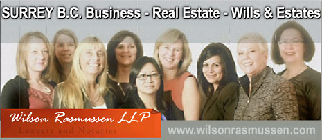 Wislon Rasmussen LLP, Surrey lawyers for Business, Real Estate and Wills and Estates  legal work