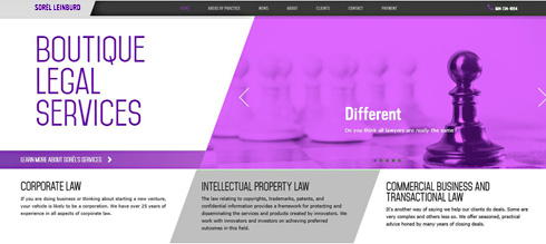 Sorel Leinburd, business-corporate lawyer with  intellectual property law, click to website