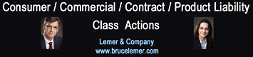Consumer/contracts/product-liability/ class actions photos of lawyers Bruce Lemer and Felicity Schweitzer, in downtown Vancouver , click to website of www.brucelemer.com