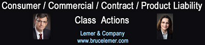 Consumer/contracts/product-liability/ class actions photos of lawyers Bruce Lemer and Felicity Schweitzer, in Vancouver on Cambie St. in Gastown -- click to website of brucelemer.com