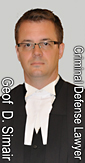 Geof D. Simair, wearing formal lawyers robes