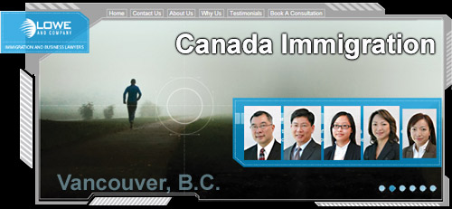 Lowe & Co. CANADA VISA LAW - 25 years experience with clients fr. 65 + countries immigrate to Canada CLICK FOR MORE INFO