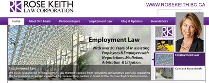 Rose Keith, J.d. employment law lawyer in downtown Vancouver, assists employers in  ensuring policies /  procedures  are in place to help prevent wrongful dismissal  law suits