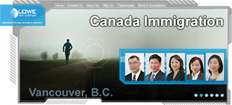 Lowe & Co. immigration lawyers/consultants: Jeffrey Lowe LLB, Robert Leong LLB, Vivien Lee RCIC, Rita Cheng RCIC, Akiko Fujita RCIC;  25 years experience with clients from 65 countries, click for more info to their offices at 777 West Broadway, Vancouver, BC
