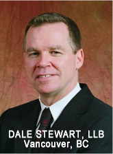 Dale Stewart, LLB experienced personal injury, brain injury lawyer with Jeffery & Calder in downtown Vancouver