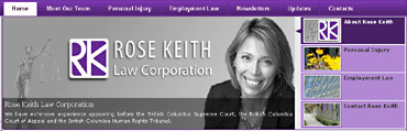 Rose Keith, downtown Vancouver personal injury lawyer and  ICBC accident claims settle ents