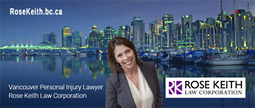 Rose Keith, JD 20+ yrs. experience with ICBC personal injury claims disputes e.g. brain injury, spine, neck whiplash, PTSD  as well as employment law.
