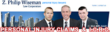 Philip Z. Wiseman,  Vancouver ICBC personal injury claims lawyer 30+ years experience- standing betweenf  lawyer  Elliot Holden, JD and former ICBC case manager  Stuart Davies.   Offices:  401 - 777 Broadway West, Vancouver, BC, Canada,  V5Z 4J7  2 blocks from VGH hospital emergency entrance
