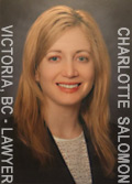 Charlotte Salomon, Personal Injury / ICBC claims lawyer  in downtown Victoria