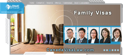 Lowe & Company, Canada Immigration Lawyers with 25  years experiene  with clients from 6 countries -  let us help with your family / spousal sponsorship  immigration questions at www.CanadaVisaLaw.com