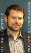 Jonathan Hanvelt, labor lawyer and employment law lawyer with Banister and Co. in downtown Vancouver, BC