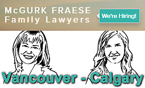 McGurk Fraese family lawyers and mediators with offices in Downtown Vancouver and Calgary - images of 2 senior lawyers Heather McGurk and Heather Fraese